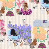 Yorkie Mother's Day Garden - Yorkie, Pom, Westie, Chihuahua, Shih tzu