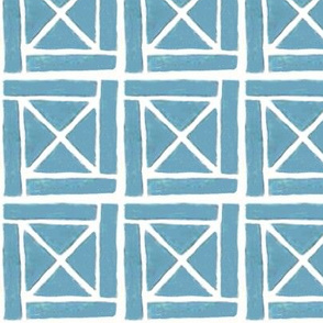 blockprint 7 -blue - cross