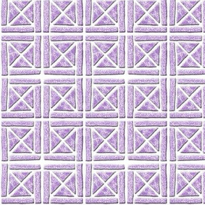 Blockprint 7-mauve