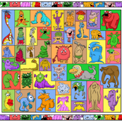 Monster Jumble Cheater Quilt
