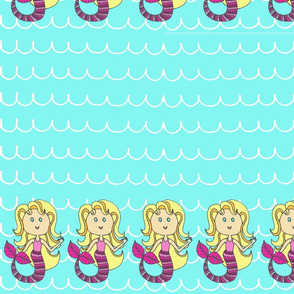 Mermaid Border Print
