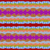 Wavy stripes with drip dye fill