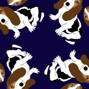 New Basset Hound Pattern (Navy Blue)