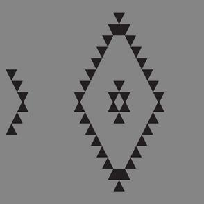 Kilim-Inspired Triangles, grey large
