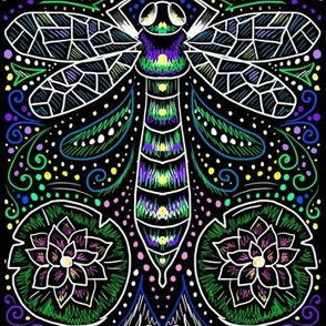 electric dragonfly filigree