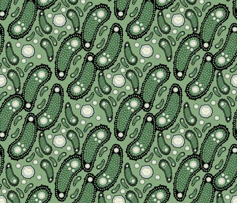 Dark Olive Pickle Paisley