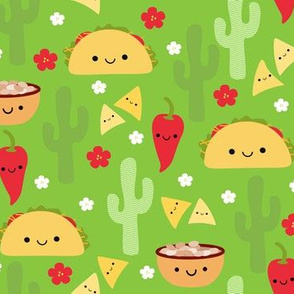Happy Tacos and Friends Green