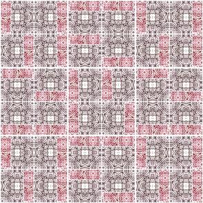 Random Red Tiki Tiles