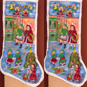 edith-joy fabrics Christmas stocking
