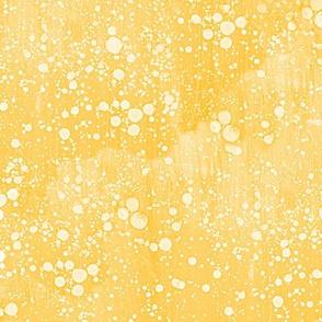 sunny gold rain splatter