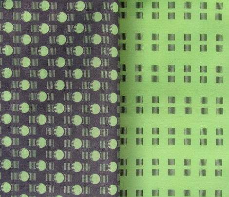 Flashbulbs Coordinate - green & black
