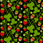 strawberries - black