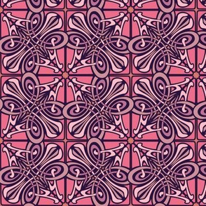 art nouveau abstract, watermelon