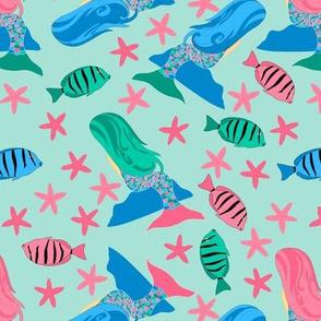 Mermaids & Fish