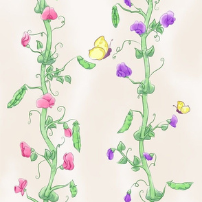 Blossoming Pea Vines (large)