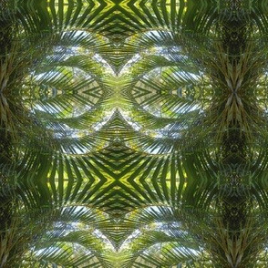 Flirty Palm Fans in the Green Realm - Medium Scale (Ref. 1729)