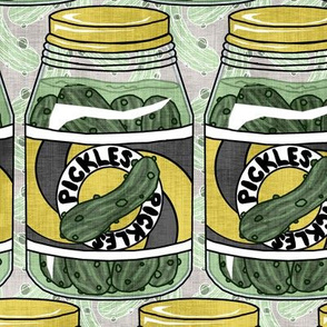 A Stockpile of Pickle Jars