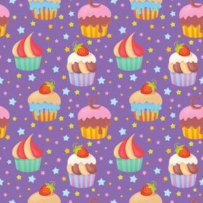 Cupcakes - Purple
