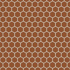 Honeycomb in Chestnut