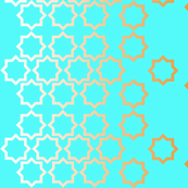 Stars-turquoise illusion
