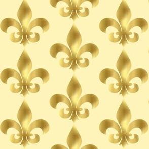 Fler De Lis Gold Leaf on butter