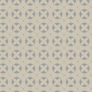 Circle X (Cream Gray)