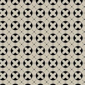 Circle X (Cream Black)
