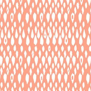 Ikat Drops - coral
