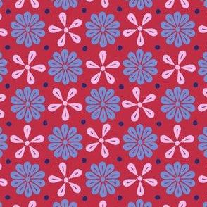 Peoria Mu - Flowers (Red)