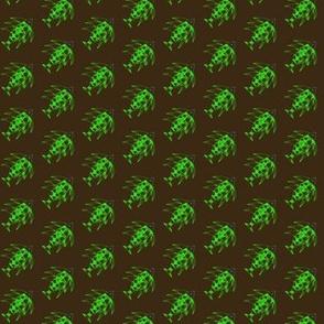 Green Fish on Black