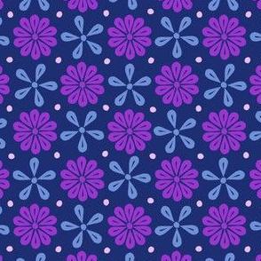Peoria Mu - Flowers (Navy)