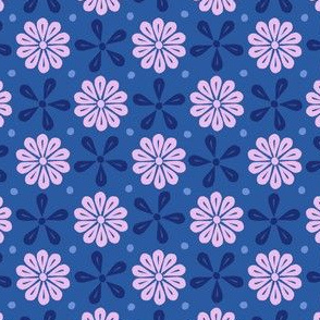 Peoria Mu - Flowers (Medium Blue)
