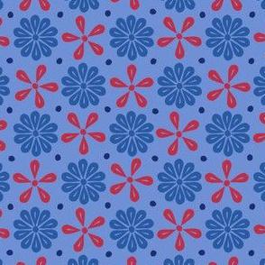 Peoria Mu - Flowers (Blue)