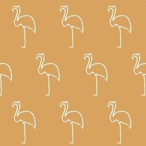 pablo's flamingo-gold-mini