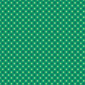 Mini-Windowpane Check in Soft Lime and Spruce Green on Aventurine