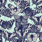 butterfly pale mint