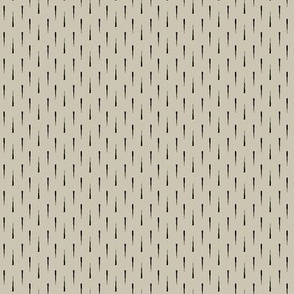 Thorn (Black on Taupe)