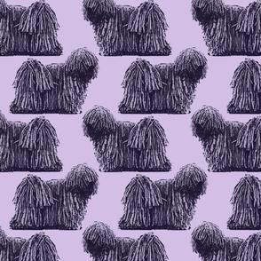 Standing Puli - purple