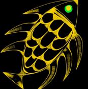 Gold Fish Green Eye