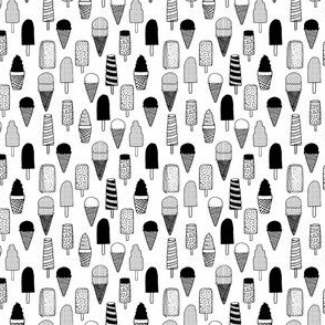 ice cream // icecreams ice cream cone ice cream summer tropical black and white kids cute sweet small tiny  print