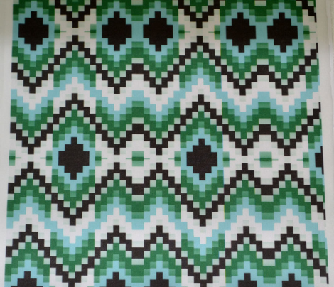 Aqua Green Bargello