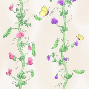 Blossoming Pea Vines (small)