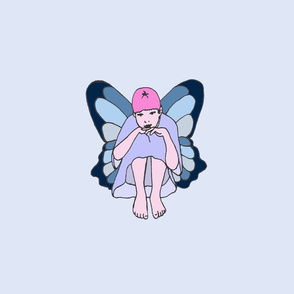 Large Teal Pensive Fairy