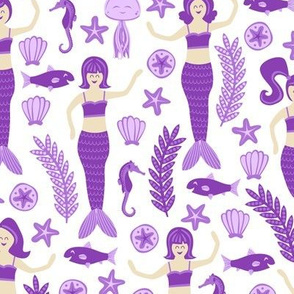 Mermaids and Friends (Purple)