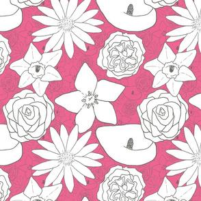 Flourishing Flowers - Bright Pink