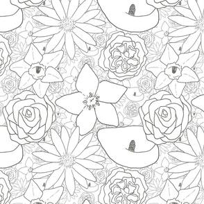 Flourishing Flowers - White
