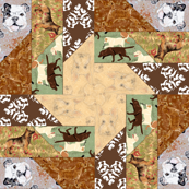 Picket Fence Dogs Cheater Quilt, unstitched
