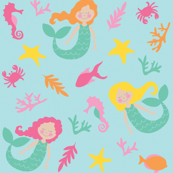 Mermaid Under the Sea Pattern