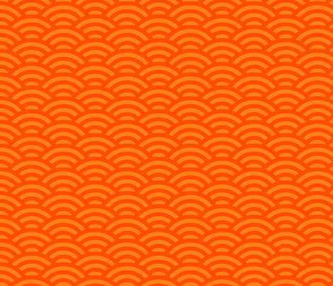 goldfish scales - bright orange