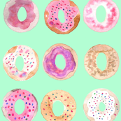 donuts turqouise